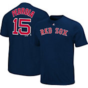 Majestic Triple Peak Men's Boston Red Sox Dustin Pedroia Navy T-Shirt