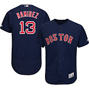 Majestic Men's Authentic Boston Red Sox Hanley Ramirez #13 Alternate Navy Flex Base On-Field Jersey