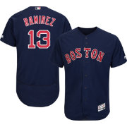 Majestic Men's Authentic Boston Red Sox Hanley Ramirez #13 Alternate Navy Flex Base On-Field Jersey