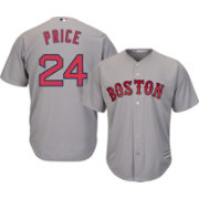 Majestic Men's Replica Boston Red Sox David Price #24 Cool Base Road Grey Jersey