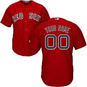 Majestic Men's Custom Cool Base Replica Boston Red Sox Alternate Red Jersey