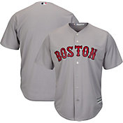 Majestic Men's Replica Boston Red Sox Cool Base Road Grey Jersey