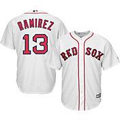 Majestic Men's Replica Boston Red Sox Hanley Ramirez #13 Cool Base Home White Jersey