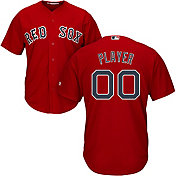 Majestic Men's Full Roster Cool Base Replica Boston Red Sox Alternate Red Jersey