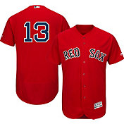 Majestic Men's Authentic Boston Red Sox Hanley Ramirez #13 Alternate Red Flex Base On-Field Jersey