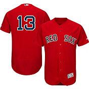 Majestic Men's Authentic Boston Red Sox Hanley Ramirez #13 Alternate Red Flex Base On-Field Jersey