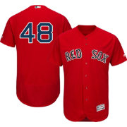 Majestic Men's Authentic Boston Red Sox Pablo Sandoval #48 Alternate Red Flex Base On-Field Jersey