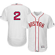 Majestic Men's Authentic Boston Red Sox Xander Bogaerts #2 Alternate Home White Flex Base On-Field Jersey