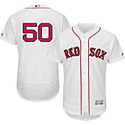Majestic Men's Authentic Boston Red Sox Mookie Betts #50 Home White Flex Base On-Field Jersey