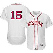 Majestic Men's Authentic Boston Red Sox Dustin Pedroia #15 Alternate Home White Flex Base On-Field Jersey