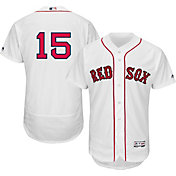 Majestic Men's Authentic Boston Red Sox Dustin Pedroia #15 Home White Flex Base On-Field Jersey