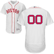 Majestic Men's Custom Authentic Boston Red Sox Flex Base Home White On-Field Jersey