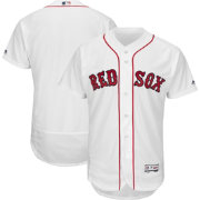 Majestic Men's Authentic Boston Red Sox Home White Flex Base On-Field Jersey