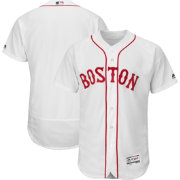 Majestic Men's Authentic Boston Red Sox Alternate Home White Flex Base On-Field Jersey