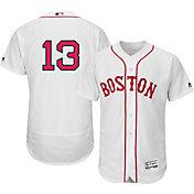 Majestic Men's Authentic Boston Red Sox Hanley Ramirez #13 Alternate Home White Flex Base On-Field Jersey
