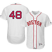 Majestic Men's Authentic Boston Red Sox Pablo Sandoval #48 Alternate Home White Flex Base On-Field Jersey
