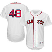 Majestic Men's Authentic Boston Red Sox Pablo Sandoval #48 Home White Flex Base On-Field Jersey