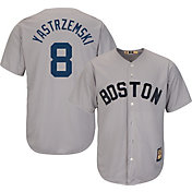 Majestic Men's Replica Boston Red Sox Carl Yastrzemski Cool Base Grey Cooperstown Jersey