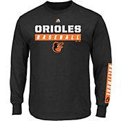 Majestic Men's Baltimore Orioles Proven Pastime Black Long Sleeve Shirt