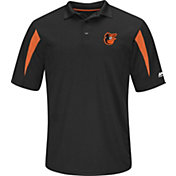 Majestic Men's Baltimore Orioles Black Coaches Polo