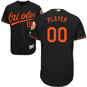 Majestic Men's Full Roster Authentic Baltimore Orioles Flex Base Alternate Black On-Field Jersey
