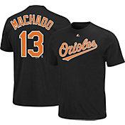 Majestic Triple Peak Men's Baltimore Orioles Manny Machado Black T-Shirt