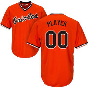Majestic Men's Full Roster Cool Base Cooperstown Replica Baltimore Orioles 1965-66 Orange Jersey
