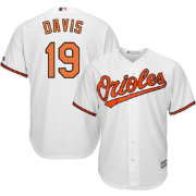 Majestic Men's Replica Baltimore Orioles Chris Davis #19 Cool Base Home White Jersey