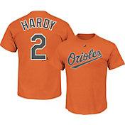 Majestic Triple Peak Men's Baltimore Orioles J.J. Hardy Orange T-Shirt