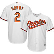 Majestic Men's Replica Baltimore Orioles J.J. Hardy #2 Cool Base Home White Jersey