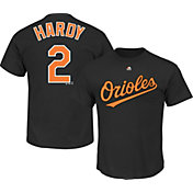 Majestic Men's Baltimore Orioles J.J. Hardy #2 Black T-Shirt