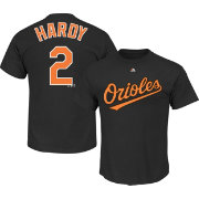Majestic Men's Baltimore Orioles J.J. Hardy #2 Black T-Shirt