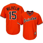 Majestic Men's Replica Baltimore Orioles Hoyt Wilhelm Cool Base Orange Cooperstown Jersey