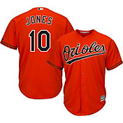 Majestic Men's Replica Baltimore Orioles Adam Jones #10 Cool Base Alternate Orange Jersey