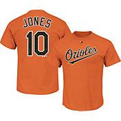 Majestic Men's Baltimore Orioles Adam Jones #10 Orange T-Shirt