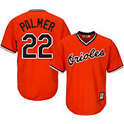 Majestic Men's Replica Baltimore Orioles Jim Palmer Cool Base Orange Cooperstown Jersey