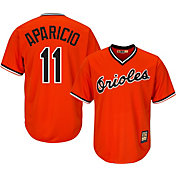 Majestic Men's Replica Baltimore Orioles Luis Aparicio Cool Base Orange Cooperstown Jersey