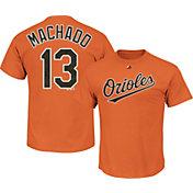 Majestic Men's Baltimore Orioles Manny Machado #13 Orange T-Shirt