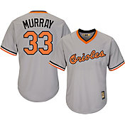 Majestic Men's Replica Baltimore Orioles Eddie Murray Cool Base Grey Cooperstown Jersey