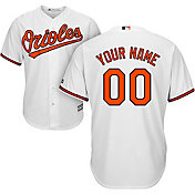 Majestic Men's Custom Cool Base Replica Baltimore Orioles Home White Jersey
