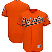 Majestic Men's Authentic Baltimore Orioles Alternate Orange Flex Base On-Field Jersey