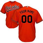 Majestic Men's Custom Cool Base Replica Baltimore Orioles Alternate Orange Jersey