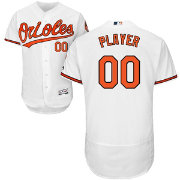 Majestic Men's Full Roster Authentic Baltimore Orioles Flex Base Home White On-Field Jersey