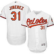 Majestic Men's Authentic Baltimore Orioles Ubaldo Jimenez #31 Home White Flex Base On-Field Jersey