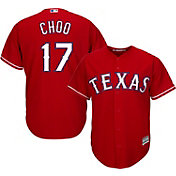 Majestic Men's Replica Texas Rangers Shin-Soo Choo #17 Cool Base Alternate Red Jersey