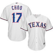 Majestic Men's Replica Texas Rangers Shin-Soo Choo #17 Cool Base Home White Jersey