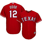 Majestic Men's Replica Texas Rangers Rougned Odor #12 Cool Base Alternate Red Jersey