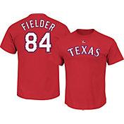 Majestic Men's Texas Rangers Prince Fielder #84 Red T-Shirt