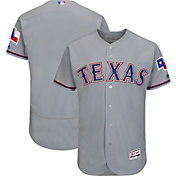 Majestic Men's Authentic Texas Rangers Road Grey Flex Base On-Field Jersey