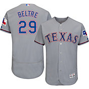 Majestic Men's Authentic Texas Rangers Adrian Beltre #29 Road Grey Flex Base On-Field Jersey